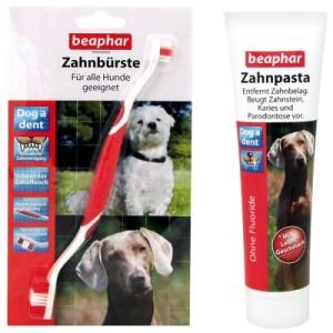 Beaphar Dog-A-Dent Zahnpflege-Set - Zahnbürste und Zahnpasta (100 g)