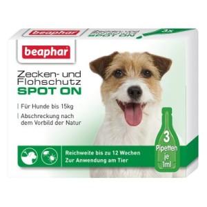 Beaphar Zecken- und Flohschutz Spot-On - 3 x 1 ml