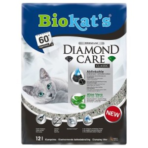 Biokat´s DIAMOND CARE Classic Katzenstreu - Sparpaket: 2 x 12 l