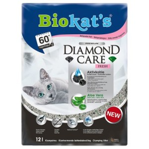 Biokat´s DIAMOND CARE Fresh Katzenstreu - Sparpaket: 2 x 12 l