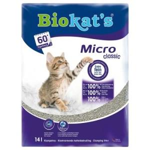 Biokat's Micro Classic Katzenstreu - Sparpaket: 2 x 14 l