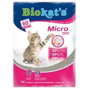Biokat's Micro Fresh Katzenstreu - Sparpaket: 2 x 14 l