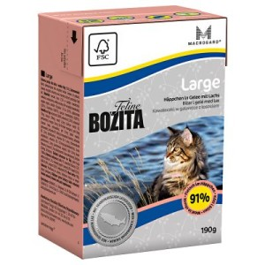 Bozita Feline in Tetra Recart Verpackung 6 x 190 g - Hair & Skin - Sensitive