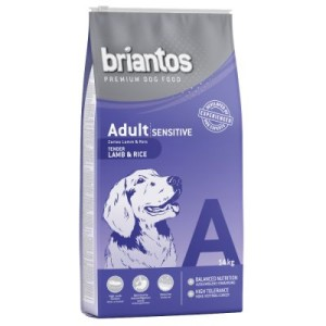 Briantos Adult Sensitive Lamm & Reis - Sparpaket: 2 x 14 kg