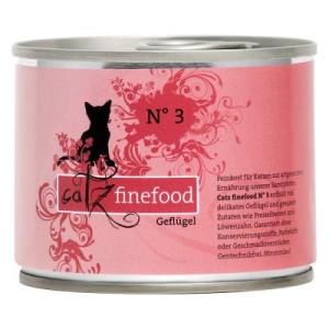 Catz Finefood Dose 6 x 200 g - passende Dosendeckel (3er Set)