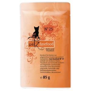 Catz Finefood Pouch 8 x 85 g - Rind & Ente