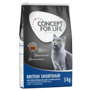 Concept for Life British Shorthair Adult - 3 kg