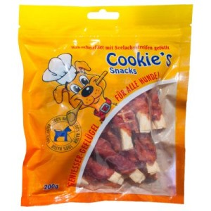 Cookie's Delikatess Fischvariationen 200 g - 3 x 200 g Seelachs-Hähnchenfilet-Schnecke
