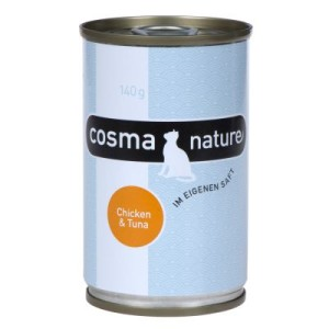 Cosma Nature 6 x 140 g - Hühnerbrust & Thunfisch