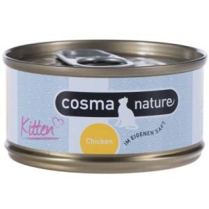 Cosma Nature Kitten 6 x 70 g - mit Hühnchen & Thunfisch