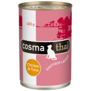 Cosma Thai in Jelly 6 x 400 g - Huhn & Thunfisch