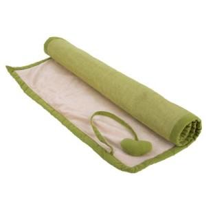 Decke mit Möbelstoff grün - L 100 x B 70 cm