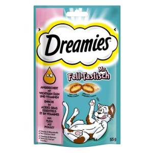 Dreamies Katzensnack Mr. Fell-Tastisch - 55 g