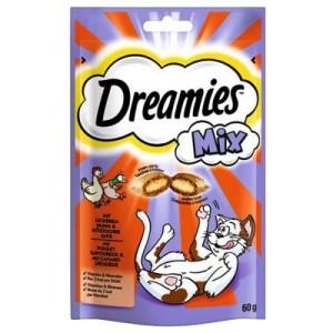 Dreamies Mix Katzensnack - Sparpaket Huhn & Ente (6 x 60 g)