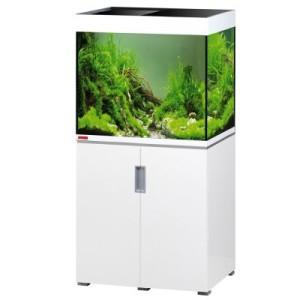 EHEIM incpiria 200 Aquarium Kombination - schwarz hochglanz/silbermetallic
