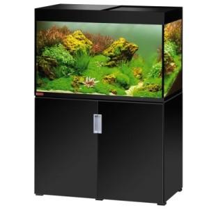 EHEIM incpiria 300 Aquarium Kombination - schwarz hochglanz/silbermetallic