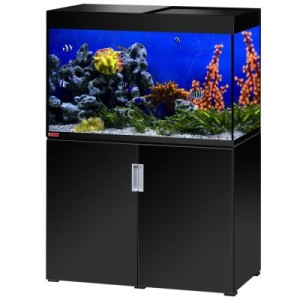 EHEIM incpiria 300 marine Aquarium Kombination - schwarz hochglanz/silbermetallic