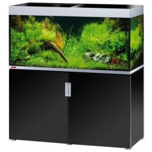 EHEIM incpiria 400 Aquarium Kombination - schwarz hochglanz/silbermetallic