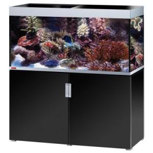 EHEIM incpiria 400 marine Aquarium Kombination - schwarz hochglanz/silbermetallic
