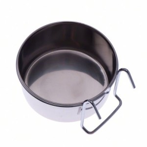 Edelstahlnapf mit Haken - 280 ml