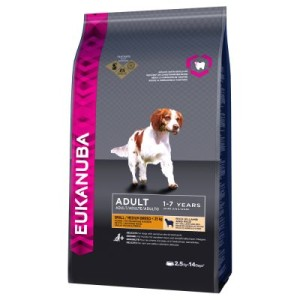 Eukanuba Adult Small/Medium Breed Lamm & Reis - 12 kg