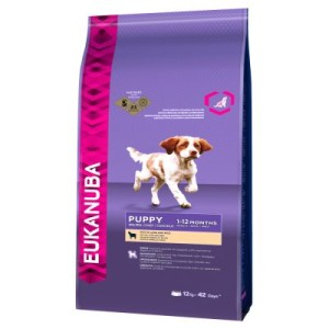 Eukanuba Puppy Small/Medium Breed Lamm & Reis - 12 kg