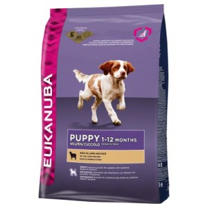 Eukanuba Starterpaket für Welpen - Medium Breed Huhn 15 kg