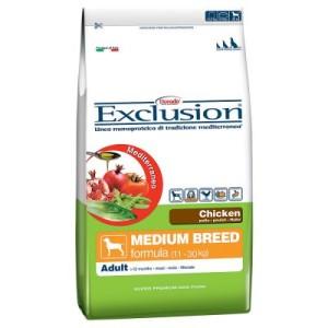 Exclusion Mediterraneo Adult Medium mit Huhn - Sparpaket: 2 x 12