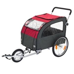 Fahrradanhänger Globetrotter + Jogging-Kit - Anhängerkupplung für Zweitfahrrad