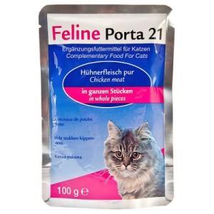 Feline Porta 21 Frischebeutel 6 x 100 g - Hühnerfleisch pur