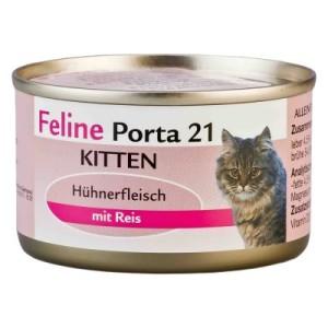 Feline Porta 21 Kitten Hühnerfleisch mit Reis - 6 x 90 g