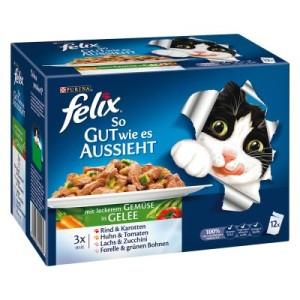 Felix ''So gut wie es aussieht'' in Gelee 12 x 100 g - Köstliche Fleischauswahl