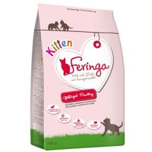 Feringa Kitten Starter-Paket + Katzenspielzeug - 400 g Trockenfutter + 6 x 200 g Pute