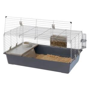 Ferplast Kleintierkäfig Rabbit 100 - grau: ca. L 97 x B 60 x H 45