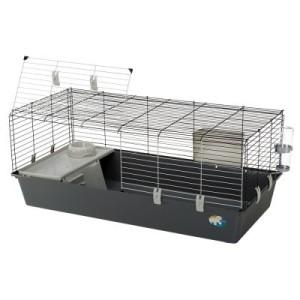 Ferplast Kleintierkäfig Rabbit 120 - grau: L 118 x B 58