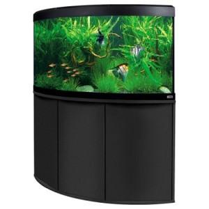 Fluval Aquarium-Eck-Kombination Venezia 350 - weiß/eiche