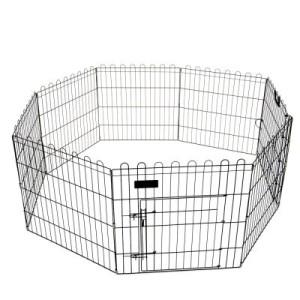 Freigehege Outback 8-Eck für Kleintiere schwarz - 8 Elemente à L 61 cm x H 76 cm