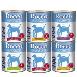 Gemischte Probierpakete Rocco 6 x 800 g - passende Dosendeckel (2er Set)