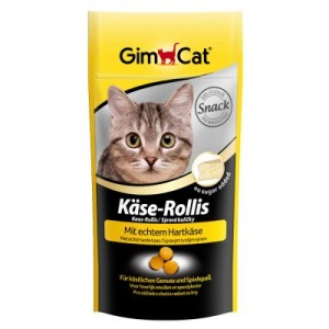 Gemischte Snackpakete von GimCat - Mix I: KäseRollis + Vitamin-Paste + Schnurries