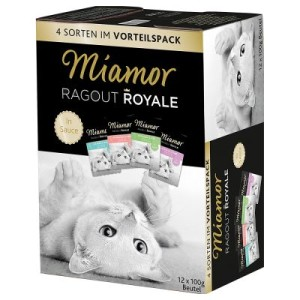 Gemischter Probierpack Miamor Ragout Royale 12 x 100 g - 48 x 100 g Gemischtes Sparpaket