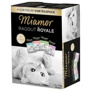 Gemischter Probierpack Miamor Ragout Royale 12 x 100 g - Kitten Geflügel und Rind in Jelly