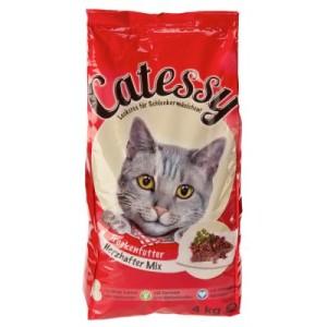 Gemischtes Paket Catessy Trockenfutter Adult - 4 kg Geflügelmix + 4 kg Herzhafter Mix