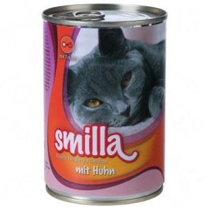 Gemischtes Paket: Smilla Schnurrtöpfchen - 60 x 400 g mit Huhn