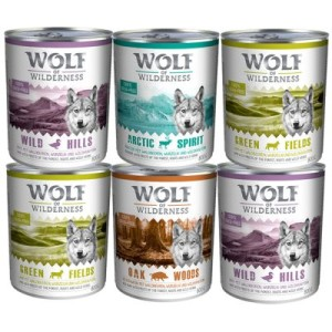 Gemischtes Paket Wolf of Wilderness 6 x 800 g - 6 x 800 g
