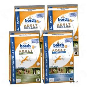 Gemischtes Probierpaket Bosch Adult Trockenfutter 4 x 1 kg - 4 x 1 kg Bosch Adult