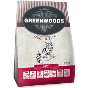 Gemischtes Probierpaket: Greenwoods Katzentrockenfutter - 3 x 300 g