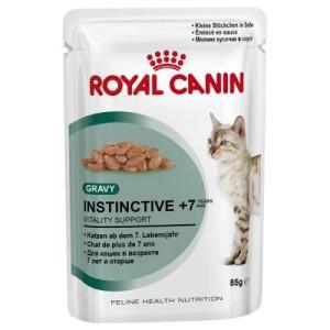 Gemischtes Sparpaket Royal Canin Gelee & Sauce 24 x 85 g - Instinctive +7 in Sauce und Gelee