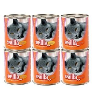 Gemischtes Sparpaket Smilla Geflügeltöpfchen 24 x 800 g - 24 x 800 g mit 4 verschiedenen Sorten