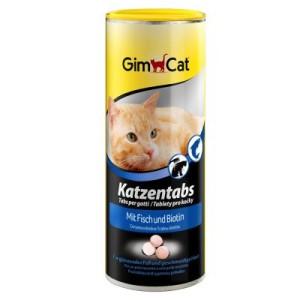 GimCat Katzentabs mit Fisch & Biotin - 3 x 350 Stück