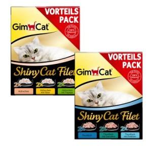 GimCat ShinyCat Filet Pouch gemischter Vorteilspack 6 x 70 g - Hühnchen